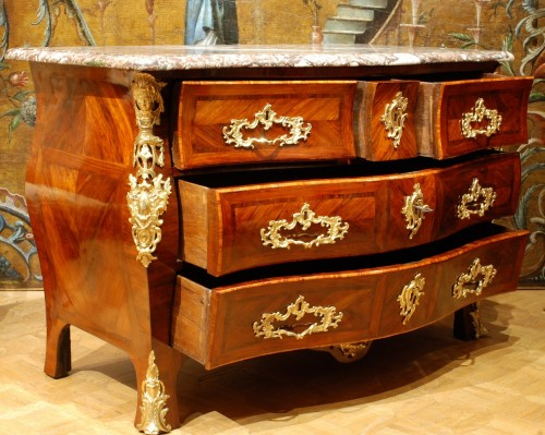 A french Louis XV commode stamped Lebesgue -