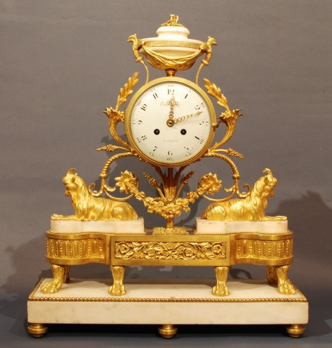 A french Louis XVI clock signed Thouverez