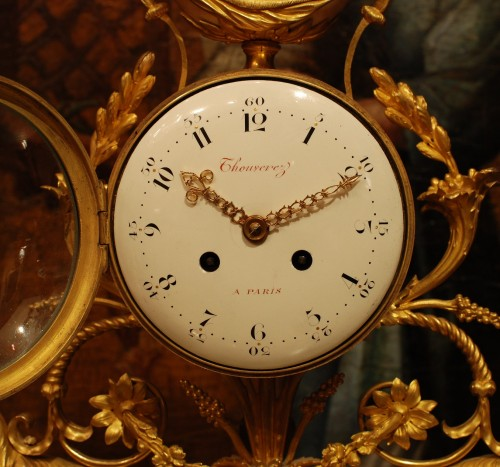 Clocks  - A french Louis XVI clock signed Thouverez