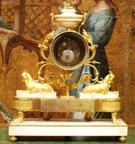 A french Louis XVI clock signed Thouverez - Louis XVI