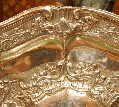 Antique Silver  - Large 18th century silver dish