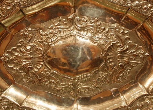 Large 18th century silver dish -