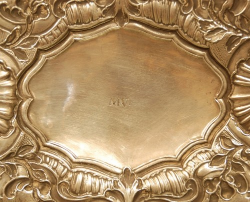 Large 18th century silver dish - Louis XV