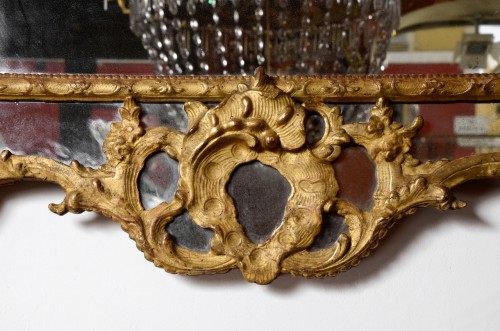 A french Régence mirror 18th century - Mirrors, Trumeau Style French Regence