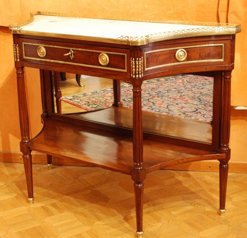 Furniture  - A french Louis XVI mahogany console