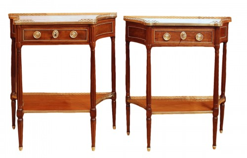 Two Louis XVI consoles forming a pair
