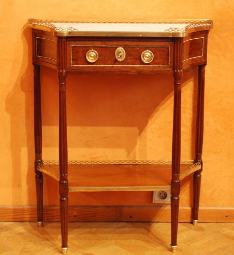 Furniture  - Two Louis XVI consoles forming a pair