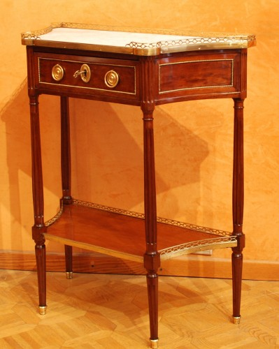 Two Louis XVI consoles forming a pair -