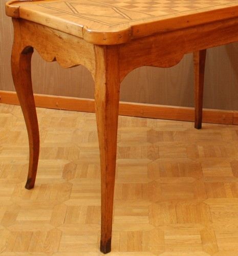 A french Louis XV game table -