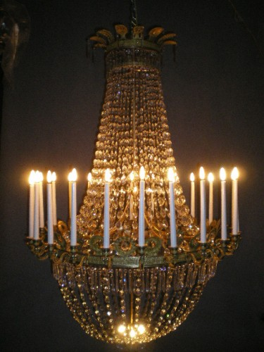 Large Empire period chandelier - Lighting Style Empire
