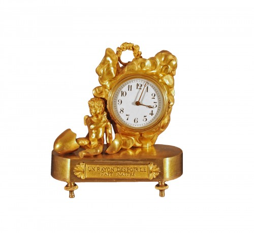 A small ormolu clock first quarter of 19th century