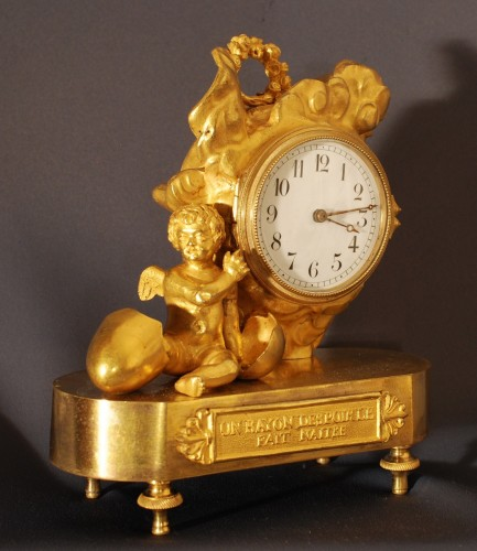 A small ormolu clock first quarter of 19th century - Horology Style Empire