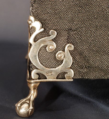 A englih shagreen silver mounted tea box 18th century - Louis XV