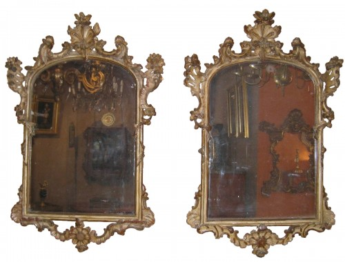 A pair of Italian 18th century mirrors