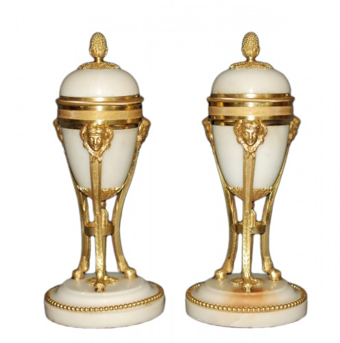 A french Louis XVI style pair of cassolettes