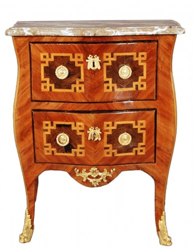A small french Transition chest of drawers 18th century