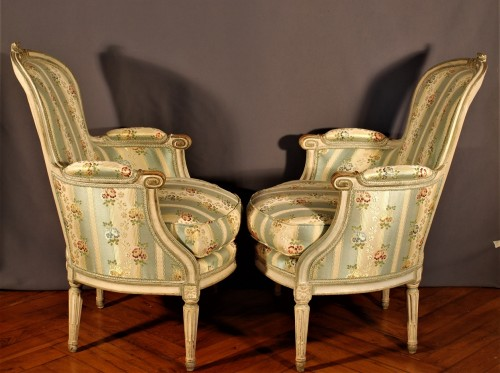 Seating  - A french Louis XVI pair of wing chairs