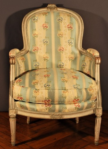 A french Louis XVI pair of wing chairs - Louis XVI