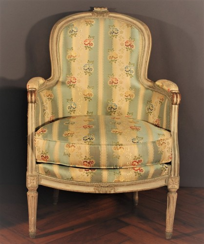 Louis XVI - A french Louis XVI pair of wing chairs