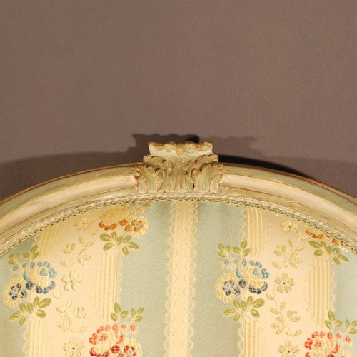 Antiquités - A french Louis XVI pair of wing chairs