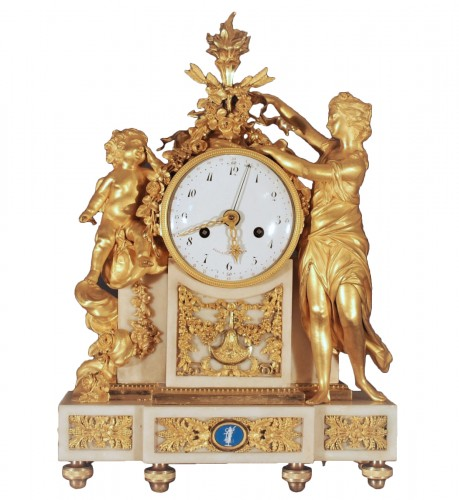 A french Louis XVI period clock signed Piolaine à Paris