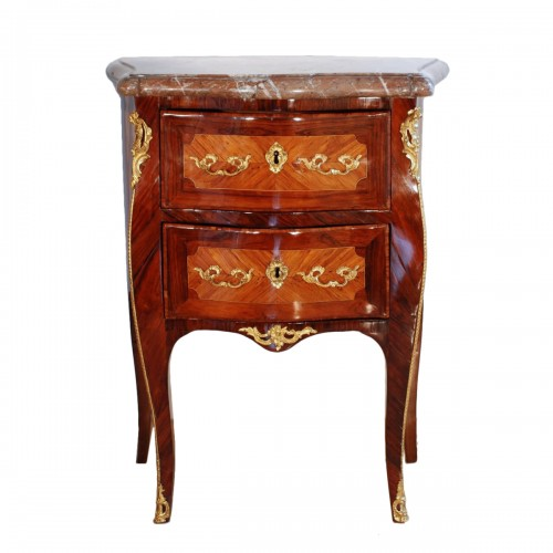 Small Louis XV commode stamped J.C. Ellaume 18th century
