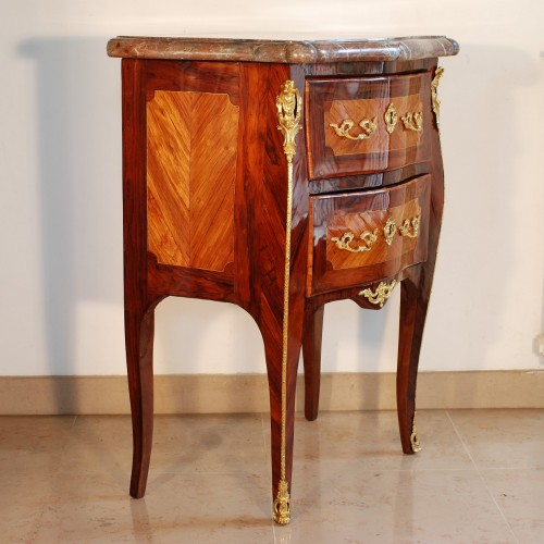 Furniture  - Small Louis XV commode stamped J.C. Ellaume 18th century