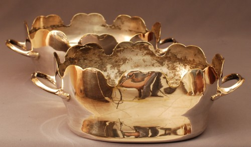 Pair of french wineglass cooler  Louis XV period - Louis XV