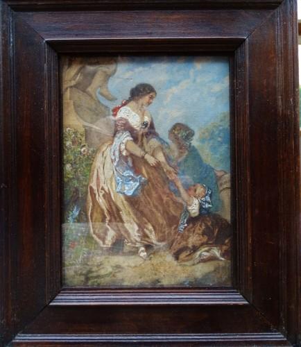 Henri Baron (1816-1885) - Family Scene in a Park -