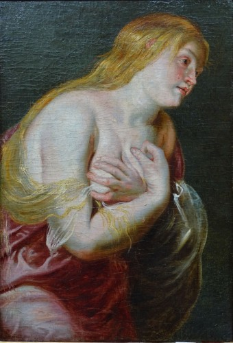 Study for a Saint Madeleine - Rubens Workshop