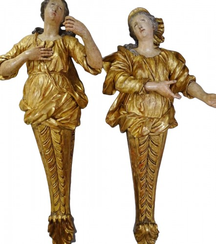 Giltwood and polychromed sculptures late 17th century