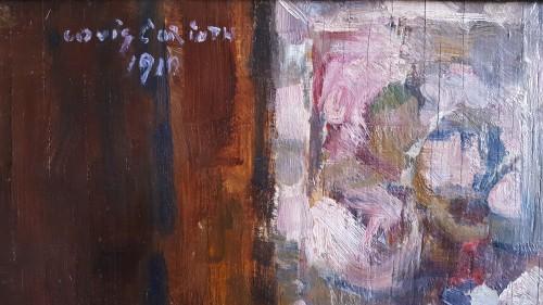 Paintings & Drawings  - Lovis Corinth (1858-1915)  - Rosen  in runder vase