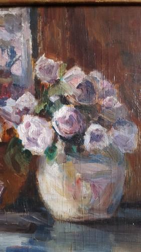20th century - Lovis Corinth (1858-1915)  - Rosen  in runder vase