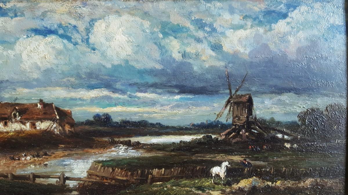 Jules Dupre 1811 1889 Paysage Anglais Au Cheval Blanc Xixe Siecle N 80684