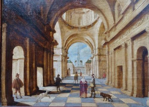 Jan Juriaensz van Baden (1604-1677) - Church interior - Paintings & Drawings Style