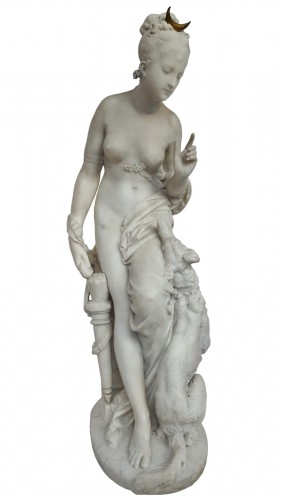 Albert-Ernest Carrier-Belleuse (1824-18887) - Diana the huntress
