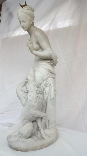 Albert-Ernest Carrier-Belleuse (1824-18887) - Diana the huntress -
