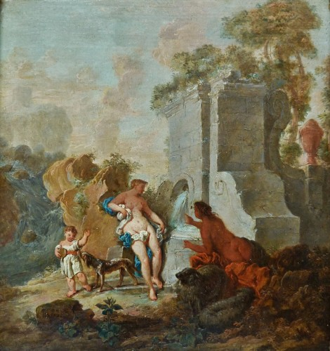 Jacques de Lajoüe (1686-1761) - Women resting by a fountain
