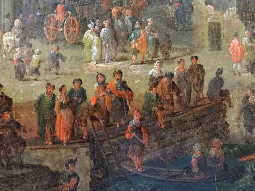 Pieter Casteels the Younger II - Port scene with Turkish emissaries -