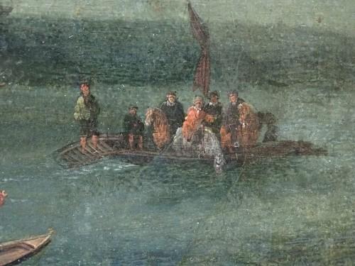 17th century - Pieter Casteels the Younger II - Port scene with Turkish emissaries