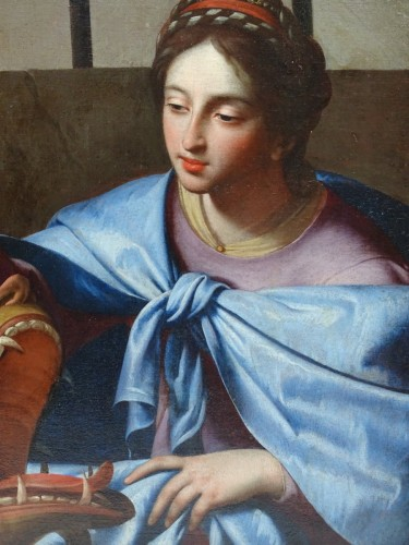 Saint Margaret - attributed to Simon Vouet - Paintings & Drawings Style Louis XIII
