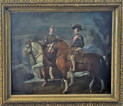 Diego Velasquez (1599-1660) - Equestrian Portrait of King Felipe IV and Margarita
