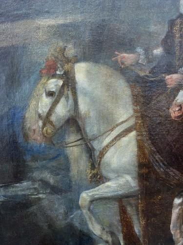 Diego Velasquez (1599-1660) - Equestrian Portrait of King Felipe IV and Margarita - Paintings & Drawings Style Louis XIII