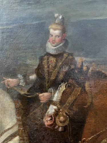 Diego Velasquez (1599-1660) - Equestrian Portrait of King Felipe IV and Margarita -