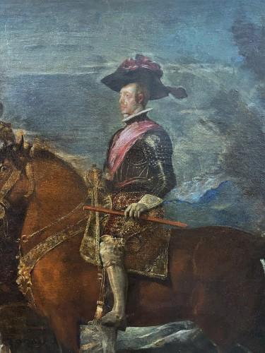 17th century - Diego Velasquez (1599-1660) - Equestrian Portrait of King Felipe IV and Margarita