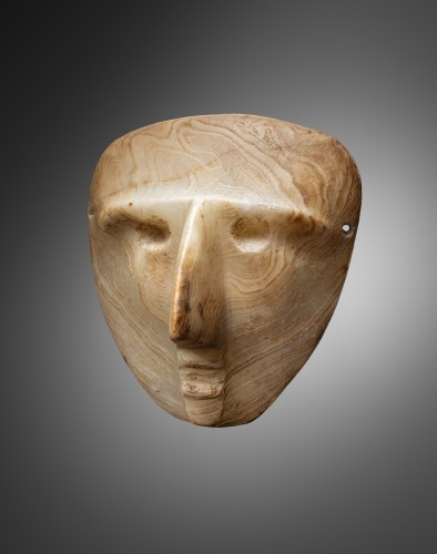 Mask representing a human face - Sultepec - Ancient Art Style