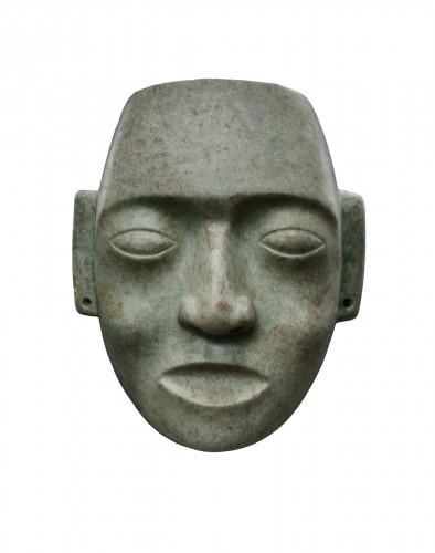 Mask representing a human face - Maya