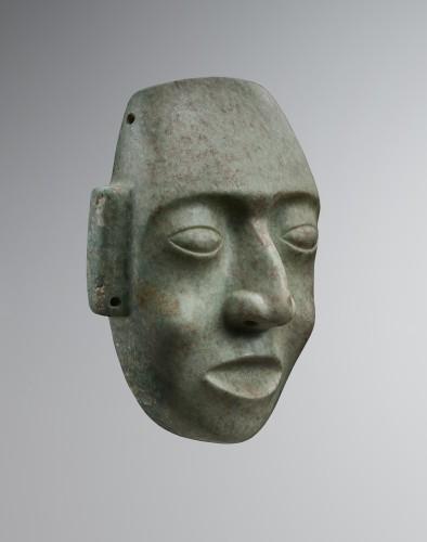 Ancient Art  - Mask representing a human face - Maya
