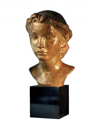Young Lady's bust  - Vadim Androusov (1895-1975)