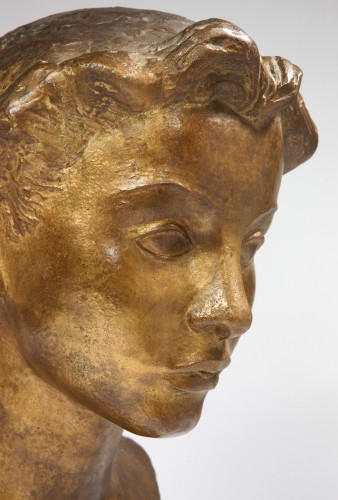 Young Lady's bust  - Vadim Androusov (1895-1975)  - Sculpture Style Art Déco